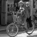 Two Boys On A Bicycle