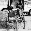 Sleeping On Cycle Rickshaw