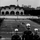 Guardsmen Walking Upstairs And Gate