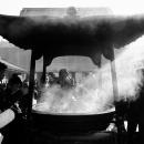 香炉から上がる煙