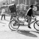 Cycle Rickshaw On The Street