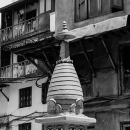 Small Stupa In The Courtyard