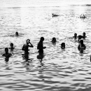 People Washing Themselves In Mahananda River