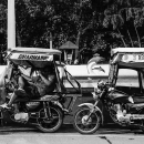 Two Trishaws Parked Beside Plaza Salcedo