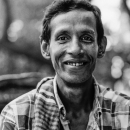 Grin Of A Man Riding On A Cycle Rickshaw