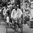 Man Pointing On The Cycle Rickshaw