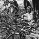 Row Of Cycle Rickshaws