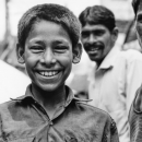 満面の笑みを浮かべた男の子