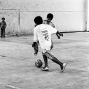 Dribbling Boy And Challenging Boy