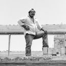 Man Striking A Pose In The Construction Site