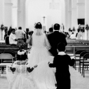 Bride And Her Father Walking The Central Nave
