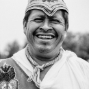Laughing Man Wearing A Costume