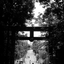 Silhouette On The Other Side Of Torii