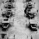 Lonely Man And Many Tables