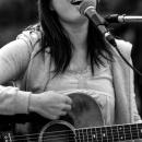 Woman Singing Cheerfully