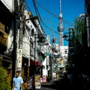 Skytree At The End Of The Alleyway