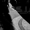 路面に光の道筋