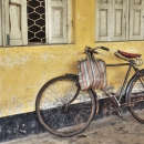 Bicycle By The Yellow Wall @ India