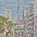 Rickshaw And Tokyo Skytree