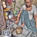 Tea Stall At A Street Corner @ India
