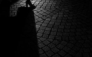 High Heels Walking Along A Cobbled Road