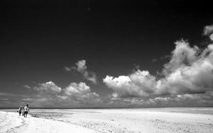 Two Figures Walking On Kondoi Beach