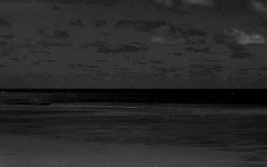 ニシ浜の黒い傘