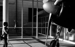 Propeller Of Zero Fighter And Man