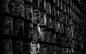Sake Barrels For Libation In Meiji Jingu