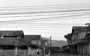 Electrical Wires In The Main Street Of Muang Sing
