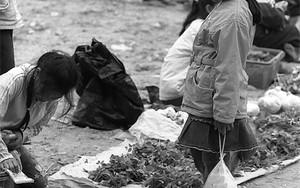 Little Girl Shopping In The Market