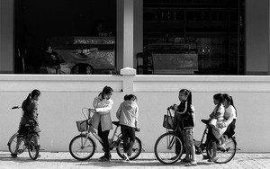 Seven Girls And Three Bicycles