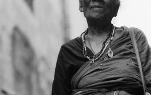 Older Woman Wearing Saree