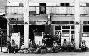 Hawkers At A Gas Station