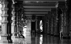 Shiny Floor In A Hindu Temple
