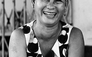 Laughing Face Of A Middle-aged Woman