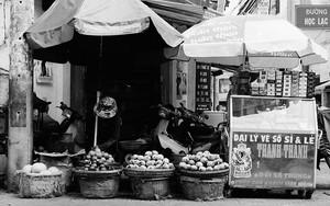 Fruiterer In A Corner Of A Street