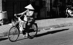 Bicycle Carrying A Conical Hat