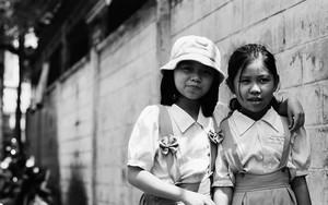 Two School Girls In The Lane