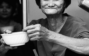 Wrinkled Smile Of An Older Woman