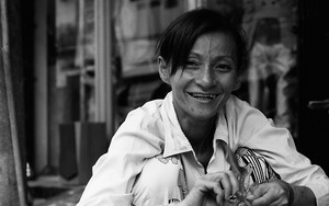 Woman Smiles In Front Of My Camera