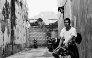 Man Sitting On The Motorbike In The Lane