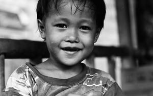 微笑み出した男の子