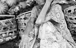 Shoeless Woman In The Market