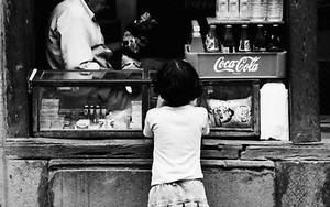 Girl In A Small Shop