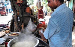 Man Cooking Rice
