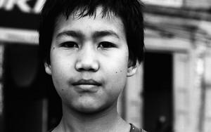 Face Of A Tibetan Boy