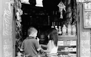 Boy And Girl At A Candy Store