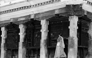 Woman Walking In Rato Machhendranath Temple