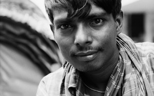 Young Rickshaw Man Stared At Me